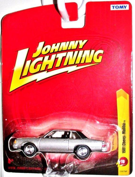 1981 Chevy Malibu Coupe Johnny Lightning 2011 Release 19 Silver-Black Vinyl Top #JohnnyLightning #Chevrolet