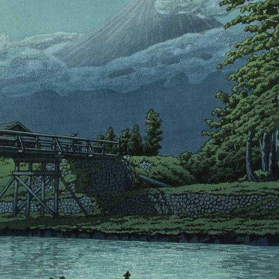 Tagonourabashi, 1930 by Kawase Hasui