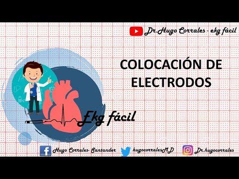 Ekg Parte 4 Posición De Los Electrodos Youtube En 2020 Anatomia Cardiaca Electrocardiograma Youtube