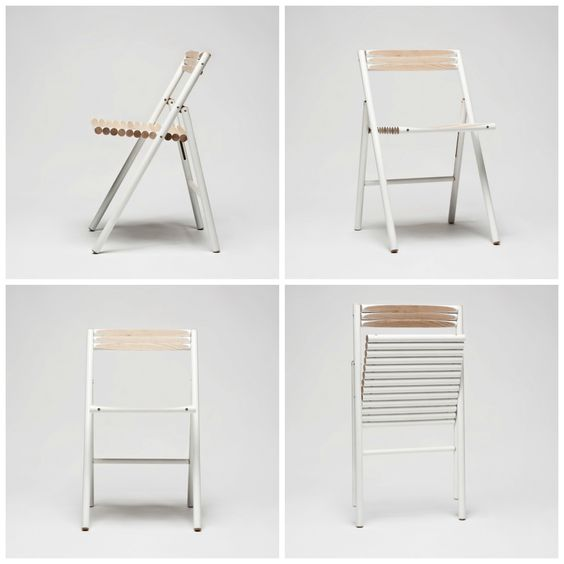 STEEL Chair by Reinier de Jong Design  The STEEL chair is indeed not made of steel. It's made of ash wood broom handles. Steel is actually the Dutch word for handle. After a concept version with used handles we created a version with new handles which is in production.