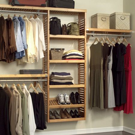 Louis Closet Organizer Set in Honey Maple.: