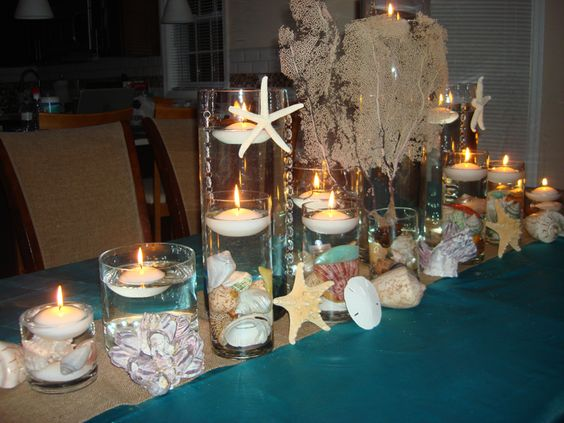 Price quote floating candle centerpieces and