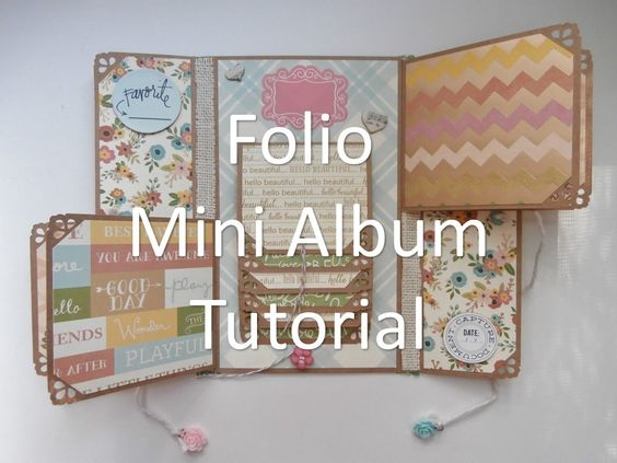 Mother's Day Folio Mini Album Tutorial | Mini Scrapbook