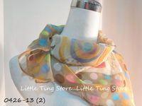 Little Ting Store幾何彩色圈圈 浪花滾邊SILK絲大方巾可搭配絲巾圍巾披肩頭巾髮帶