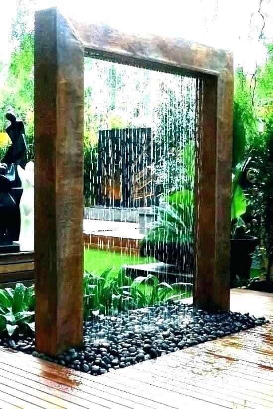 Waterfalls In House Waterfall Inside Indoor Falling Small Backyard Landscaping Modern Garden Modern Garden Design