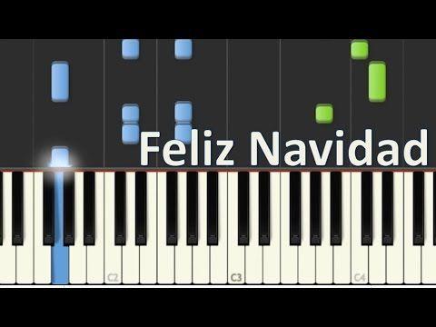 Como Tocar Feliz Navidad En Piano Jose Feliciano Tutorial Moromusicpiano Youtube Aprender Piano Notas Musicales Piano Piano