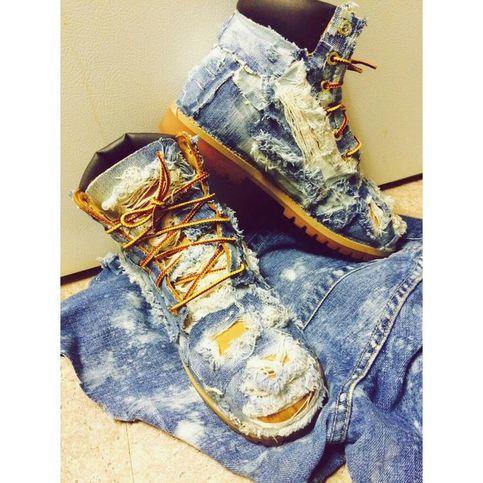 Denim Tims | Custom timberland boots