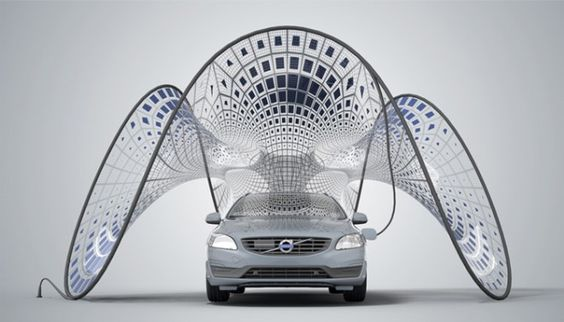 Volvo Invents a Solar Panel That Unfurls From the Car Trunk | Wired Design | Wired.com.   Being Fabricated by Fabric Images, Inc.