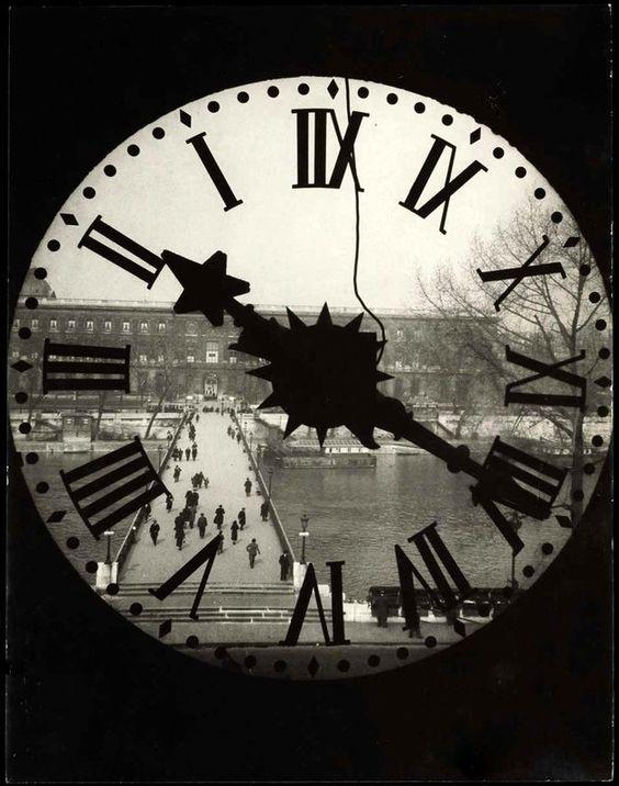 Académie Française Clock Quai de Conti Paris 1929 André kertész