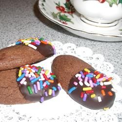 Gilded Chocolate Shortbread Allrecipes.com | new recipes | Pinterest ...
