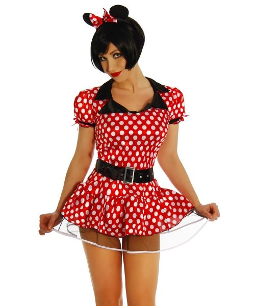 Minnie Mouse-Kostuem rot-weiss 1-11250-009