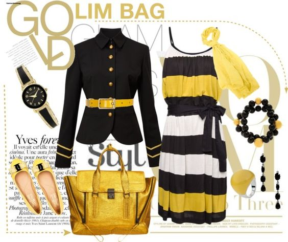 """""""GOLD LIM BAG"""" by asorana ❤ liked on Polyvore"""