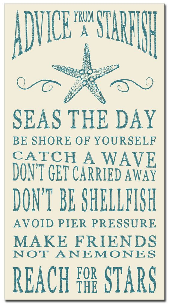 Advice From A Starfish Wood Sign 16 Quot Signs Country And