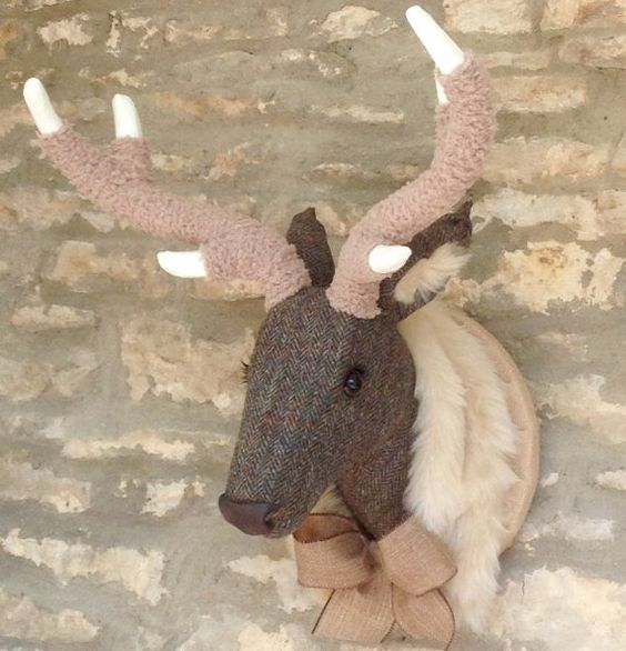 The perfect alternative to taxidermy, not only animal friendly but also handmade…