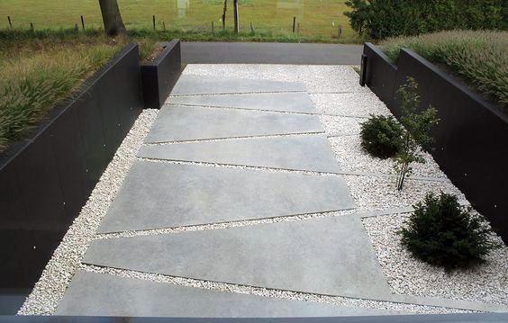 Top 60 Best Concrete Walkway Ideas Outdoor Path Designs Modern Garden Landscaping Modern Landscaping Modern Garden