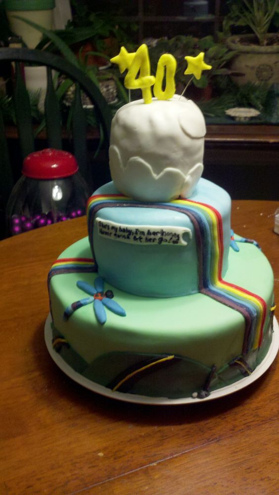 Birthday cake done with less than 24 hours notice and only given a song to go by.