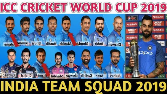 India S Squad For Cricket World Cup 2019 Cricket World Cup World Cup World Cup Teams