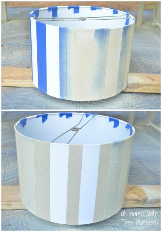 Spray Painted Lamp Shade-Painting