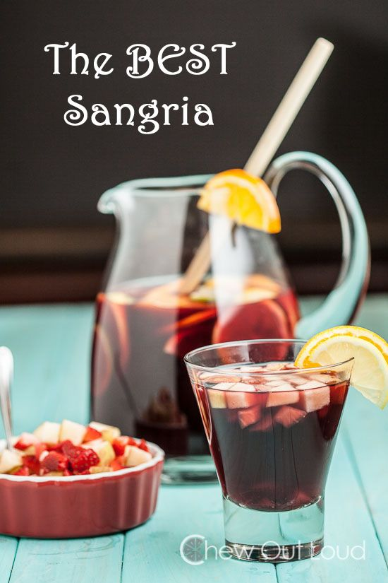 The Best Sangria - It's the BEST for a reason.  Make ahead recipe.  Everyone raves over this.