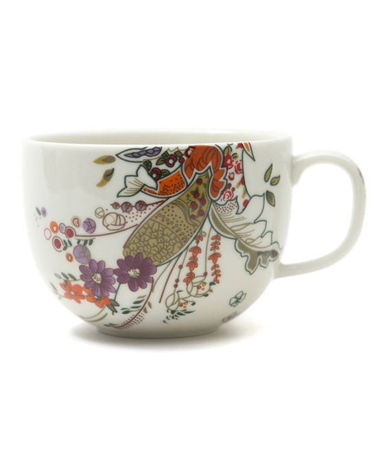 Look what I found on #zulily! Floral Henna Porcelain Mug - Set of Four by Padma Lakshmi #zulilyfinds