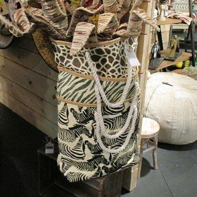 Zebra Tote Bag | Clayton Gray Home | gym bag, gift bag, beach bag or just a stylish tote