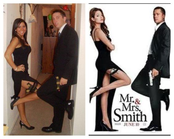 Mr. & Mrs. Smith Halloween Costume. Couples costume. Halloween