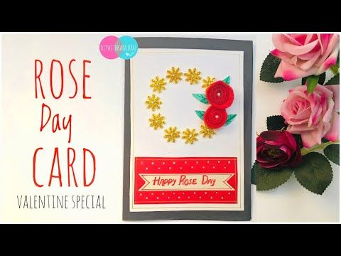 How To Make Handmade Rose Day Card Greeting Cards Ideas Beautiful