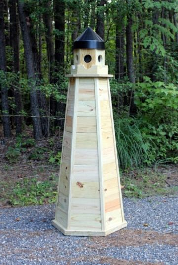 Lawn Lighthouse Made From Treated Wood Diy Woodworking