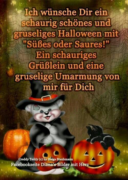 Pin Von Heike Wahrn Auf Halloweengrusse Halloween Spruche Halloween Grusse Helloween Lustig