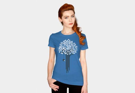 Frozen Tree T-Shirt - Design By Humans