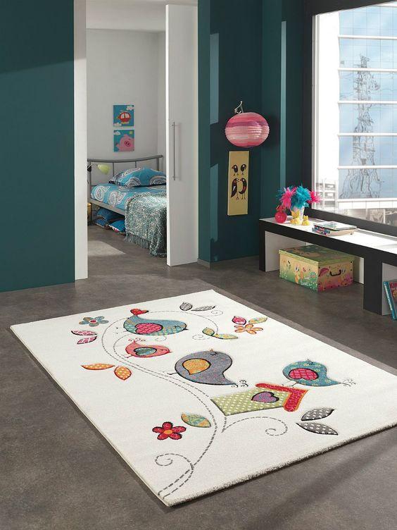 Alfombra alfombra de juegos para niños pájaro colorido divertido NUEVO !!! | eBay