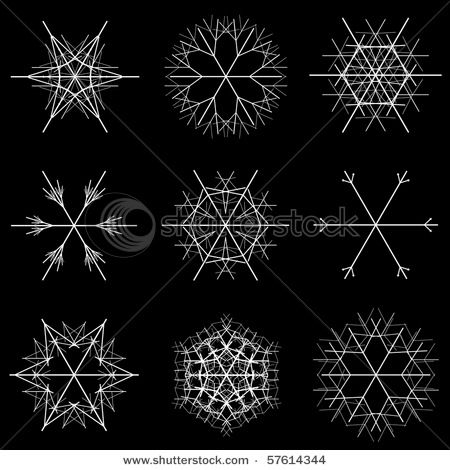 fractal snowflake designs: