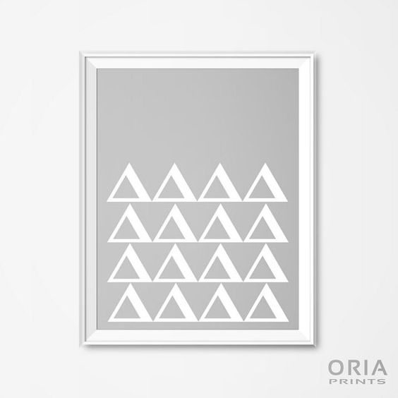 Geometric posters printable wall art black and white by oriaprints oriaprints all art prints pinterest printable wall art art prints and prints