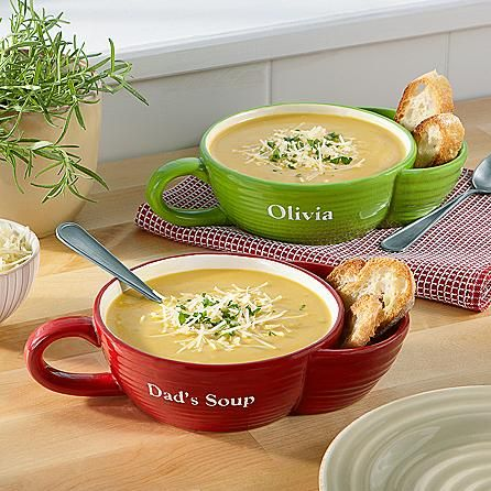 Gift Idea For Men`s  Dippin' Time Soup & Cracker Bowl  End the juggling act, and give your crackers a home right where they belong, nestled next to your soup. This two-in-one bowl is great for other pairings, like chips and dip or ice cream and cookies.