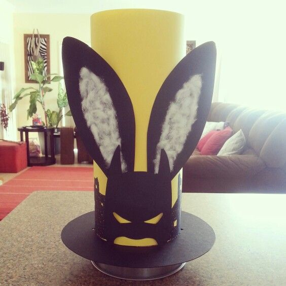 Batman easter hat gee this looks hard but joe would for Easter bonnets templates