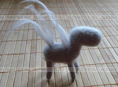 âne, feutre, laine, feutre de maître à dos d'âne