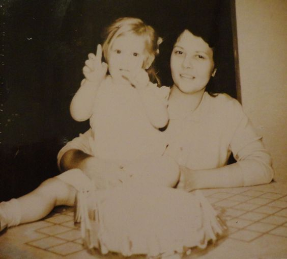 Me and mom on my 2nd Birthday. 2/16/64