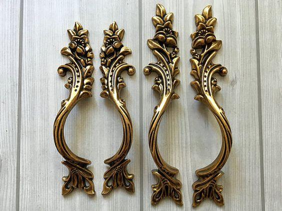 79 96 mm Schrank Türgriff Türgriffe Möbel Griffe Knäufe Möbelknöpfe Antike Gold…