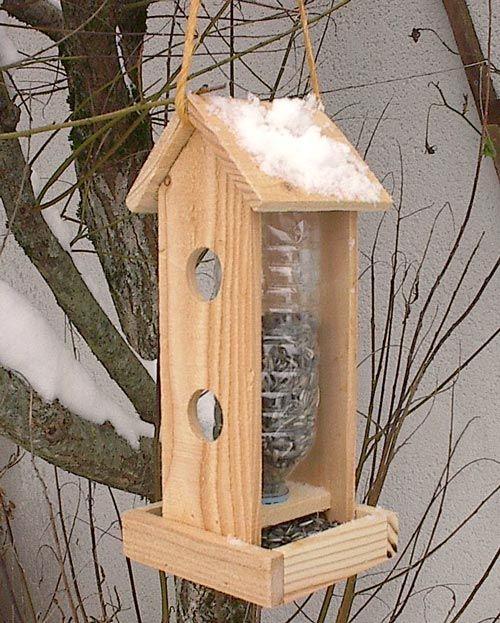 Mangeoire oiseaux bois grand mod le 1 5l jardin plantes for Pinterest bricolage jardin