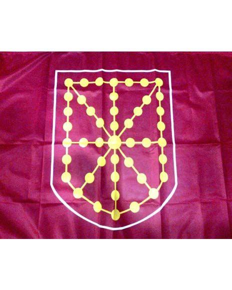 Nafarroako bandera: 110X67zm.  Bandera de Navarra: 110X67cms