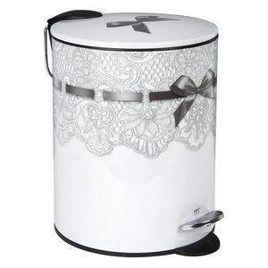 poubelle salle de bain dentelle mathilde m poubelle de salle de bain dentelle accessoire de salle - Ustensile Salle De Bain Inox