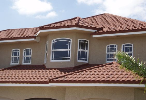 Spanish Exterior Paint Colors And Metal Roof On Pinterest