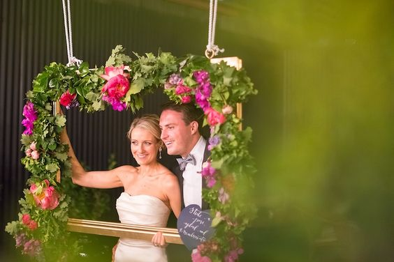 Real Life Wedding: Kellie & Sandy - The Ever After Story. Now that's a photobooth!