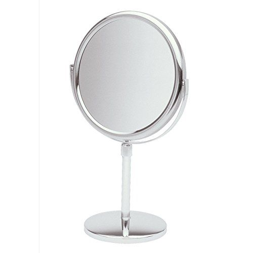 Jerdon 9 Inch Tabletop Two Sided Swivel Vanity Mirror With 5x