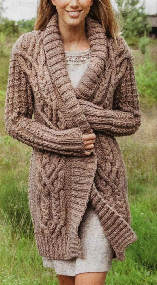 Knitting Pattern Ladies Wide Necked Aran Jumper S, M, L, XL,XXL