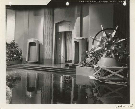 """Emerald City""  Set design stills from The Wizard of Oz. (M-G-M, 1939). Cedric Gibbons.:"