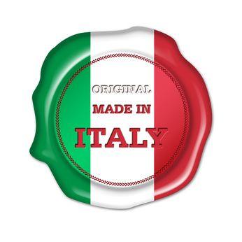 con l'attestato di garanzia per l'italianità del prodotto.