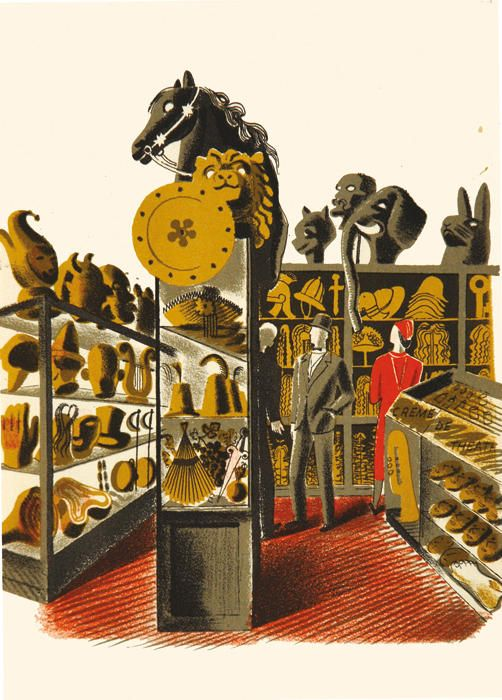 Eric Ravilious (1903-1942), Theatrical Properties c.1938, Lithograph, £450 unframed, Modern British Paintings and Prints - The Scottish Gallery, Edinburgh - Contemporary Art Since 1842