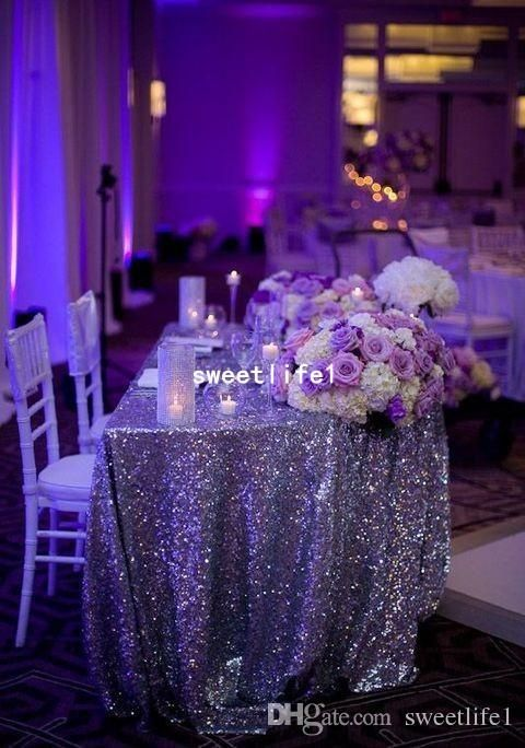 Custom Made Size Rectangle Sequin Cloth Sequin Tablecloth