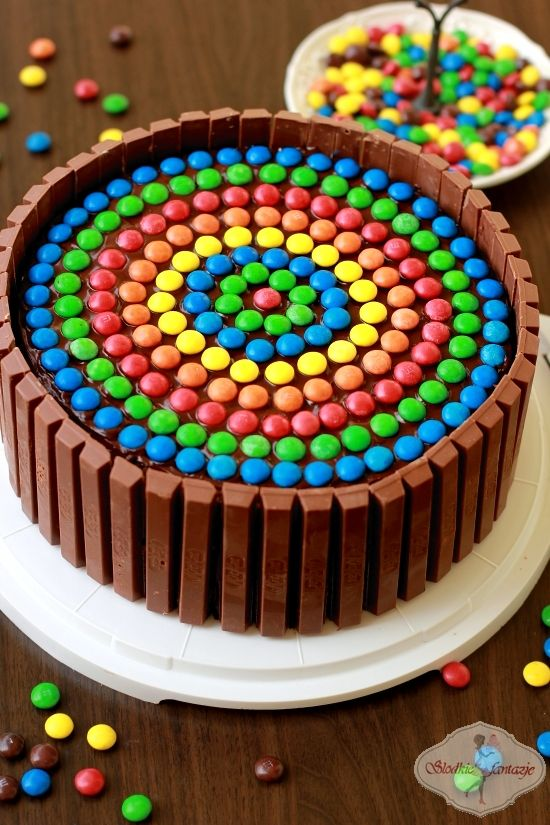 Tort Ferrero Rocher / Ferrero Rocher Cake with M&M